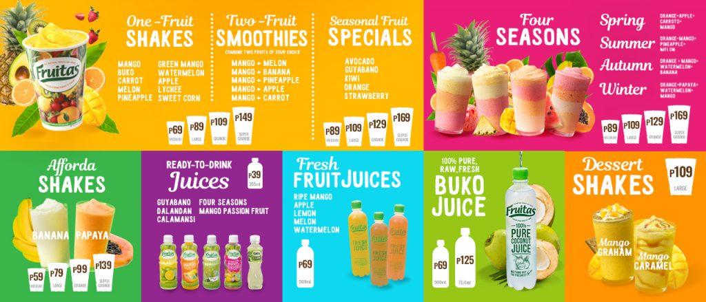Fruitas-menu